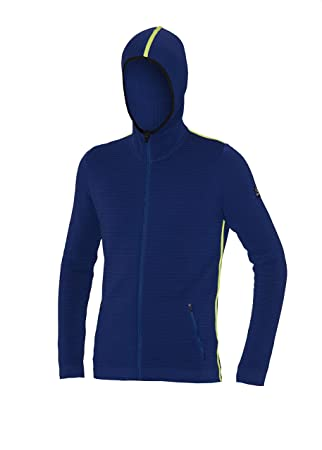 Newland Athleisure, Sottotuta Zip Technical Long Hooded Jacket, Men s,  Athleisure, blue royal 4520ca054a