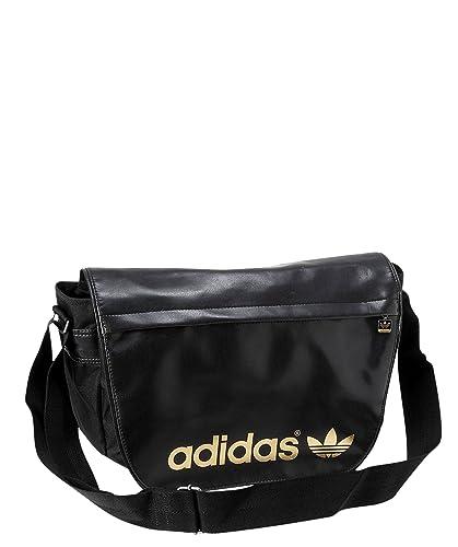 69290b84073a3 Adidas , sac bandoulière femme - Noir - Noir or, 44x33x8 cm  Amazon ...