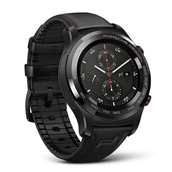 Porsche Design Huawei Smartwatch (4GB Memory, Bluetooth, Wi-Fi, IP68, Graphite Black) - International Version (Black)