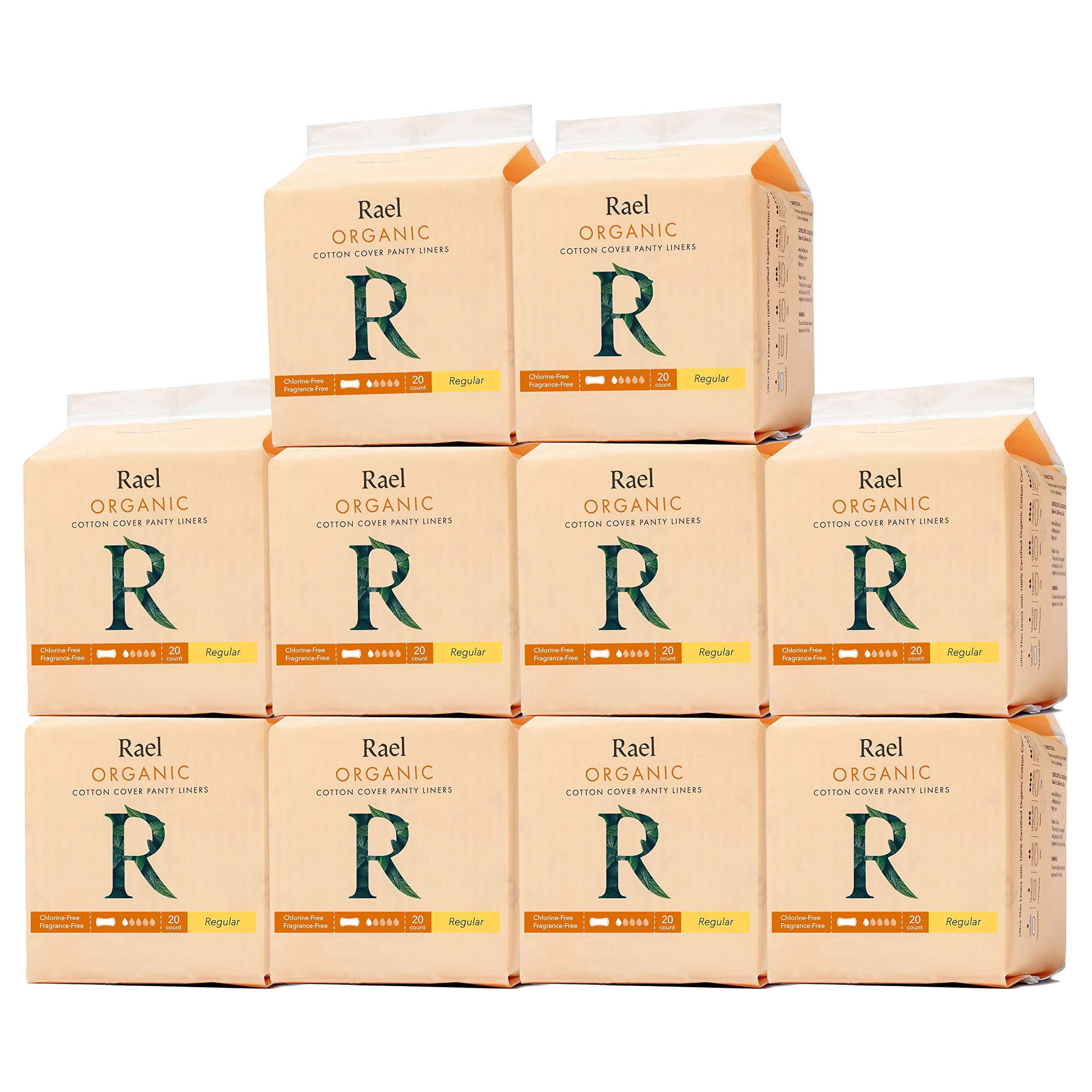 Rael Bundle Package - Rael Certified Organic Cotton Pantyliners 10 Pack / 200 Total (Regular Liners) by Rael