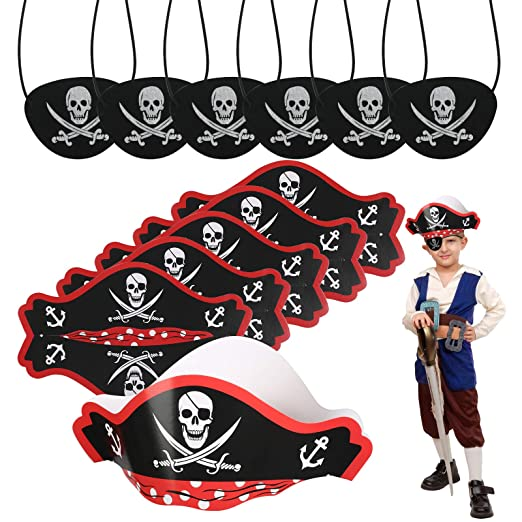 CHIFOOM Accesorios para Niños Piratas 6pcs Tarjetas de ...
