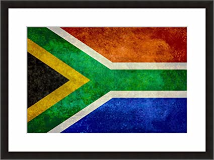 Amazon Com Eframe Fine Art South African Flag Flag Of South
