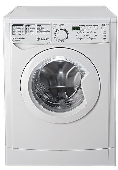 Indesit EWD 71483 W DE Waschmaschine FL / 174 kWh / 1400 UpM / 7 kg / 10840 Liter/MyTime, Schneller als 1 Stunde/Inverter-Mot