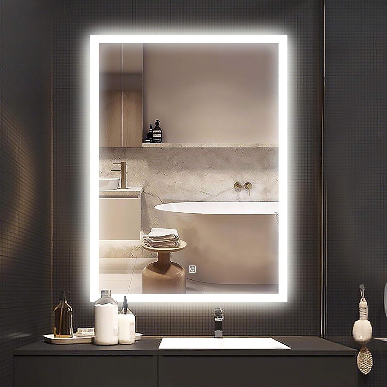 YOUKE Espejo de Baño para Tocador y Espejo Espejo de Baño con Iluminación LED/Espejo de Pared Grande/Espejo de Luz/Espejo Baño: Amazon.es: Hogar