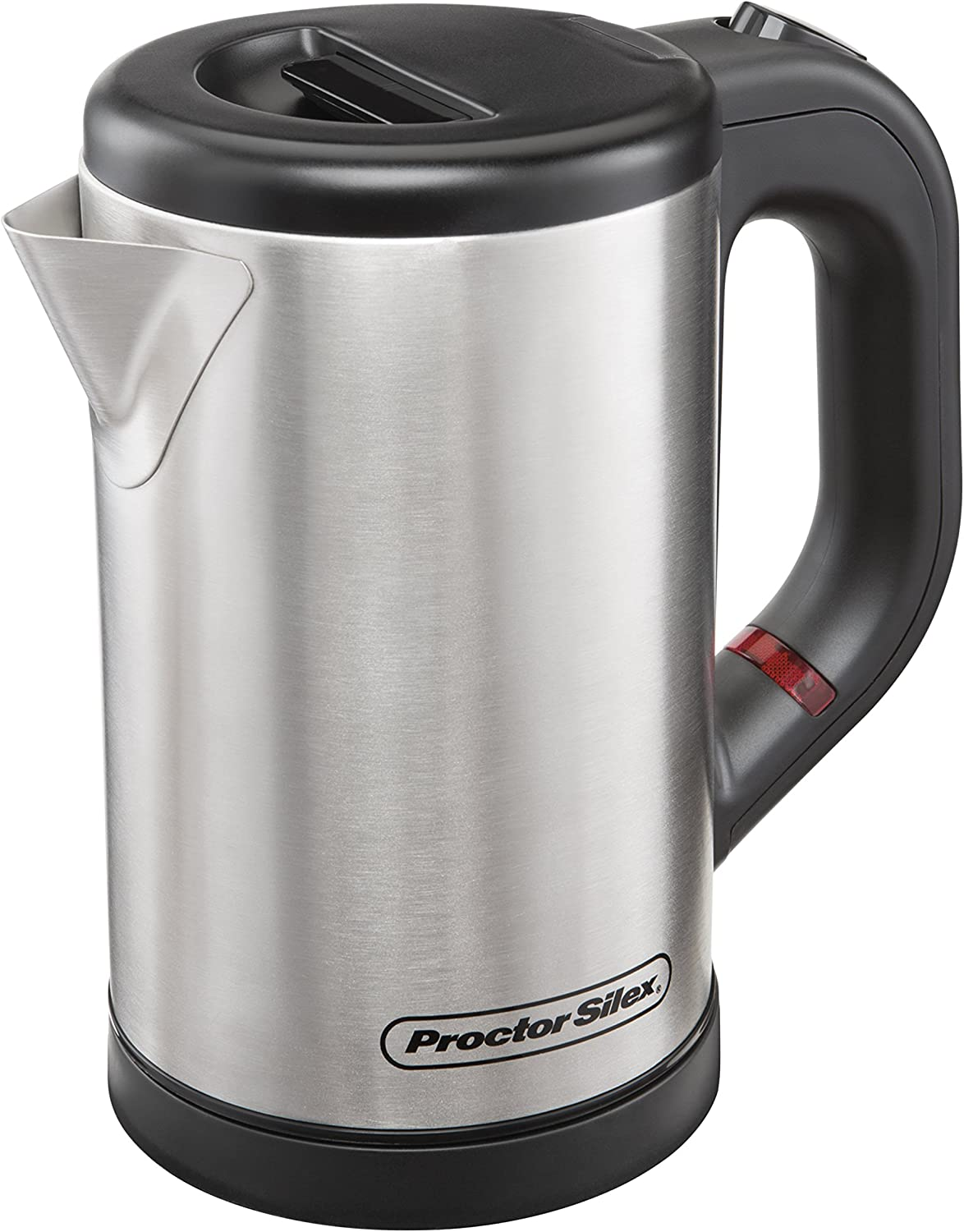 Proctor Silex Compact Electric Kettle for Tea and Hot Water, Cordless, Auto-Shutoff and Boil-Dry Protection, Stainless Steel 40940 ,