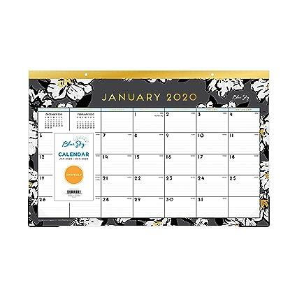 Sfc List 2020.Amazon Com Blue Sky 2020 Monthly Desk Pad Calendar Ruled