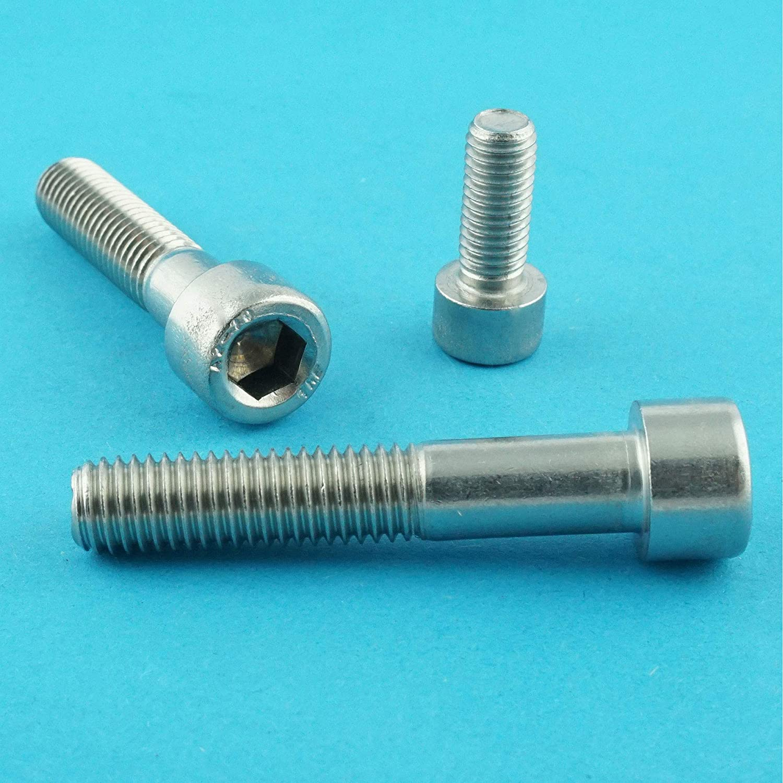 Eisenwaren2000 - Zylinderkopf Schrauben ISO 4762 Gewindeschrauben Edelstahl A2 V2A- rostfrei Zylinderschrauben mit Innensechskant M6 x 100 mm DIN 912 5 St/ück