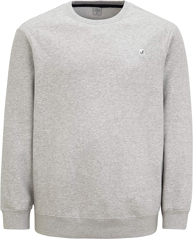 s.Oliver Big Size Herren Pullover Grey Melange