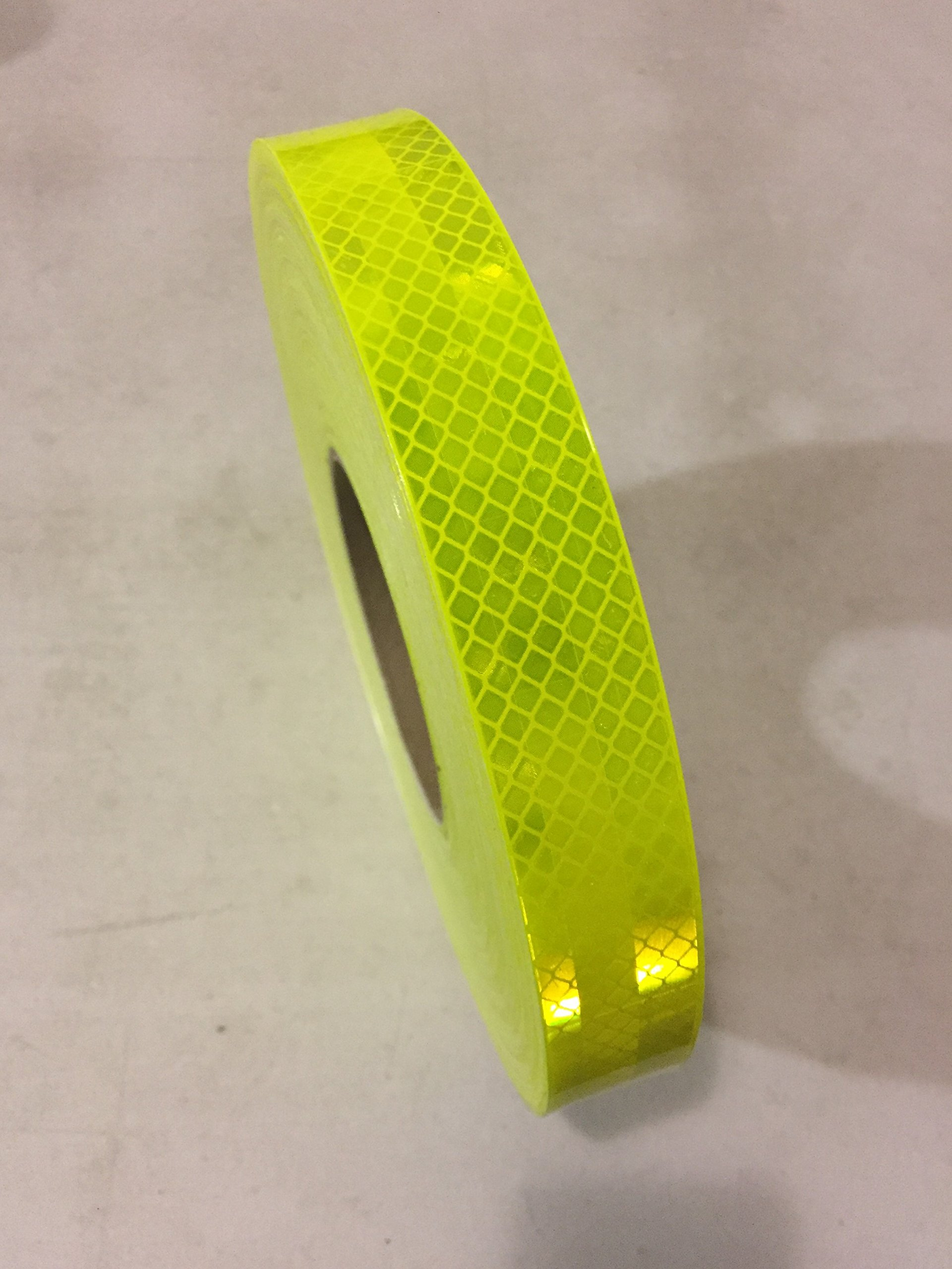 1'' x 150' Roll of 3M 983-23 Series Reflective Marking Warning Safety Conspicuity Tape Fluorescent Yellow Green