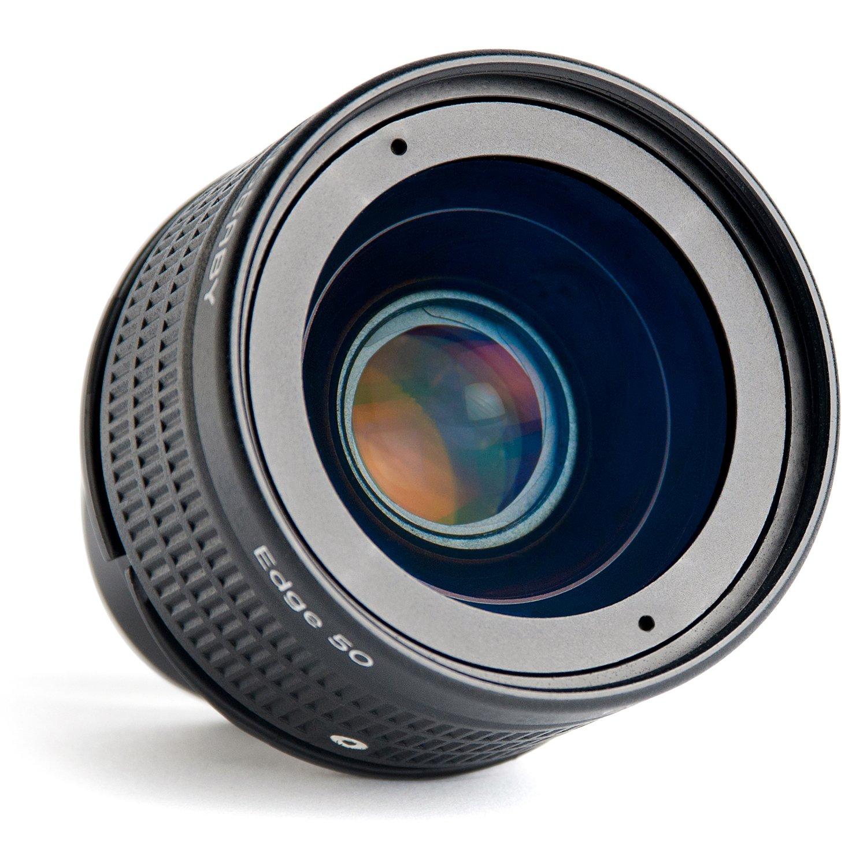 Lensbaby レンズユニット Edge 50 optic レンズユニット単体 80mm F3.2 絞り羽根内蔵 レンズベビー光学系交換システム対応 Edge 50 オプティック  B07CFMH4HK