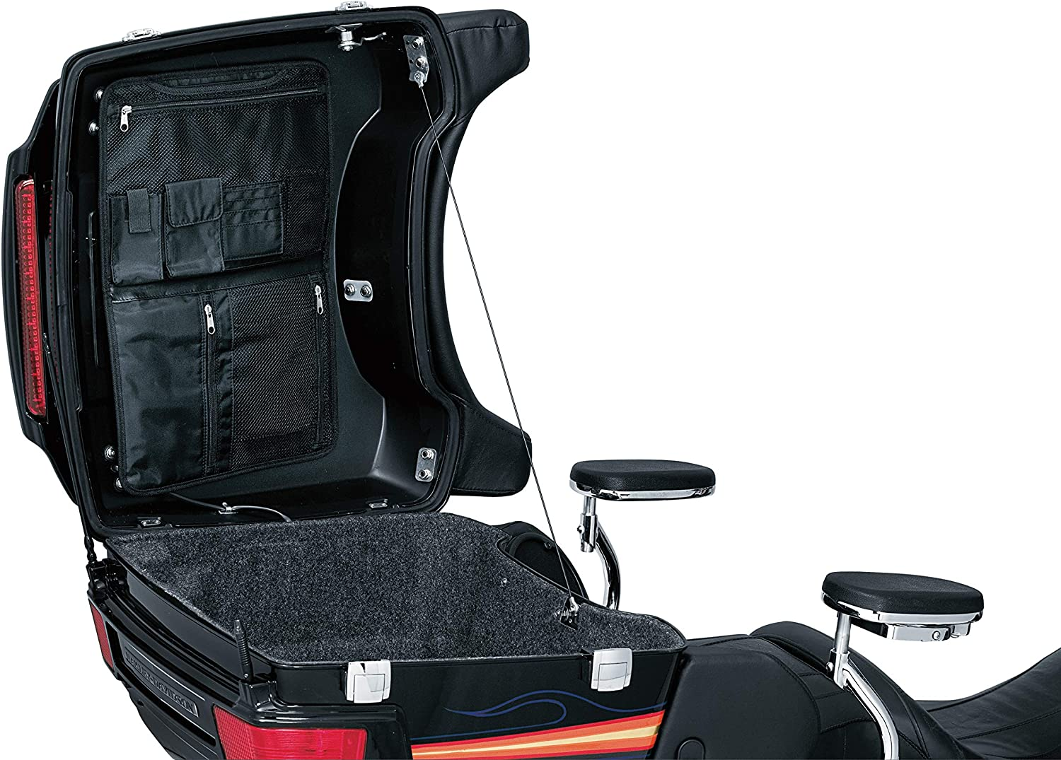 Black Ultra Kuryakyn 4134 Motorcycle Travel Luggage: Removable Trunk Lid Organizer Bag with Carrying Handles for Harley-Davidson Motorcycles with: King Chopped Tour-Paks