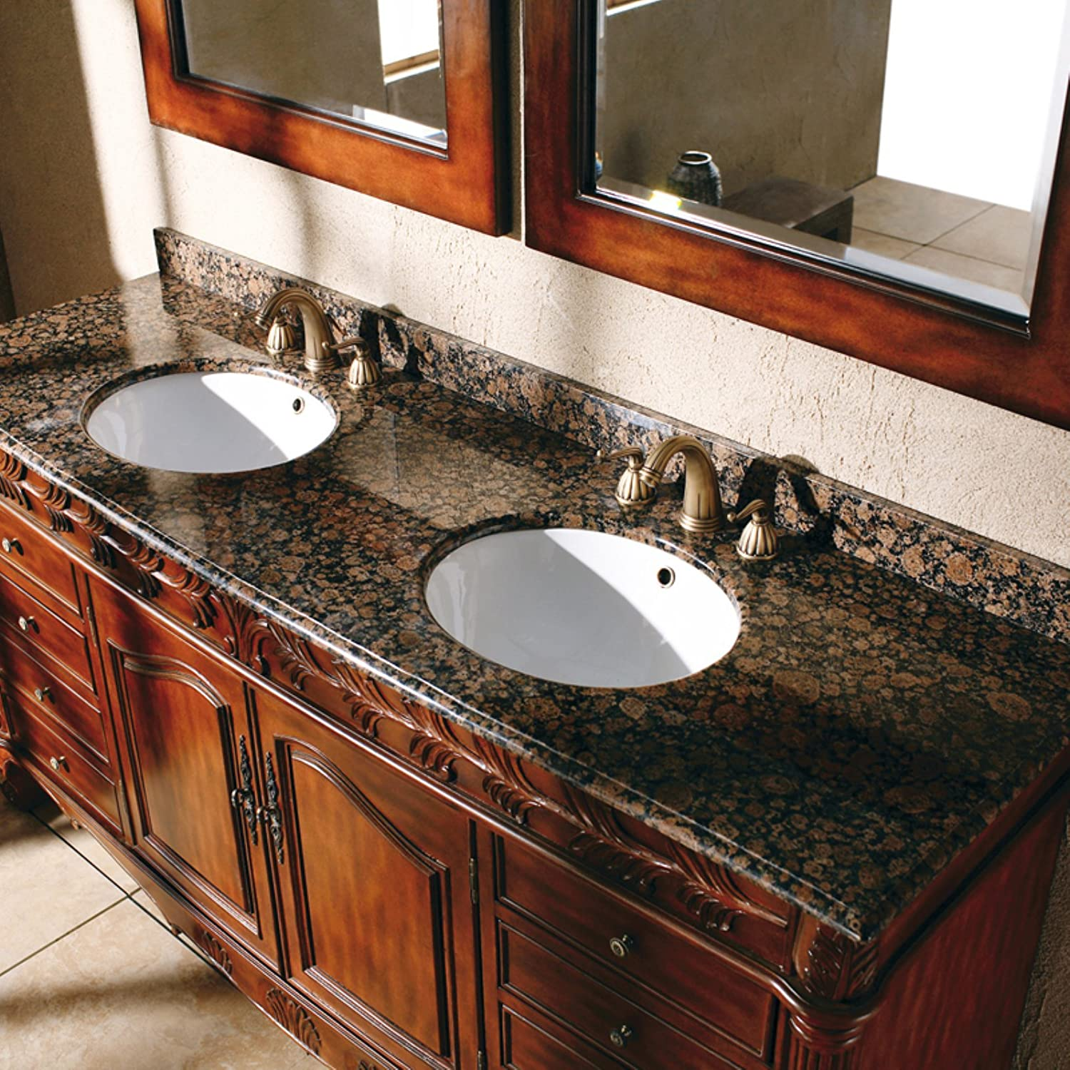 James Martin Furniture 72 in. Bathroom Double Vanity in Cherry and ...