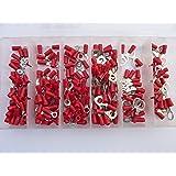 SK-DV 250 Ring Kabelschuhe/Ringoese M3 - M8 - Sortiment Nr. 1 - rot für Kabel von 0,5 mm² - 1,5 mm