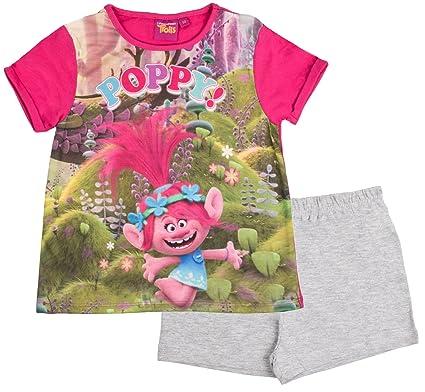 Trolls Girls Short Pyjamas Pjs Pink  Amazon.co.uk  Clothing 693894b90