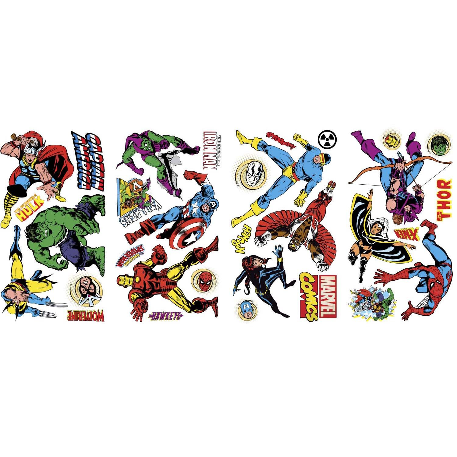 Marvel Bedroom Accessories Roommates Rmk2328scs Marvel Character Peel And Stick Wall Decals