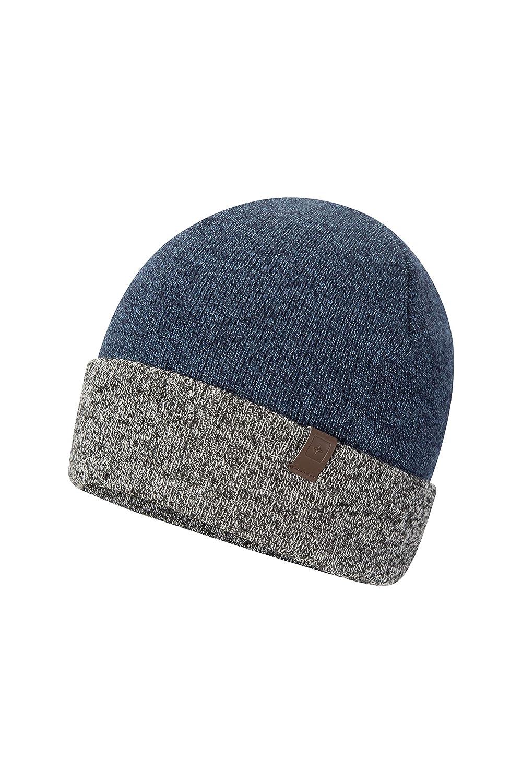 b88420381b5bc Mountain Warehouse Compass 2 Tone Mens Beanie - Lightweight Hat ...