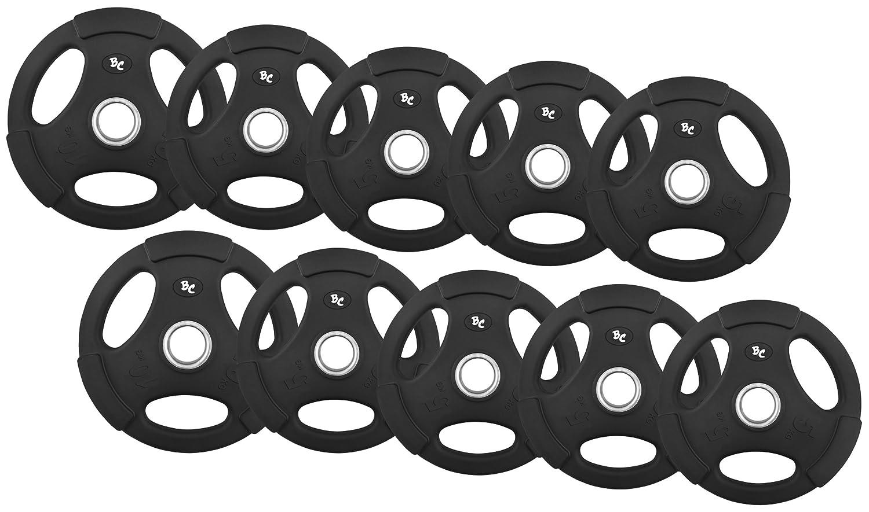 Hantelscheiben Hanteln Gewichte 50//51mm 8x5, 2x10 Oly Gummi-Gripper 60,0Kg