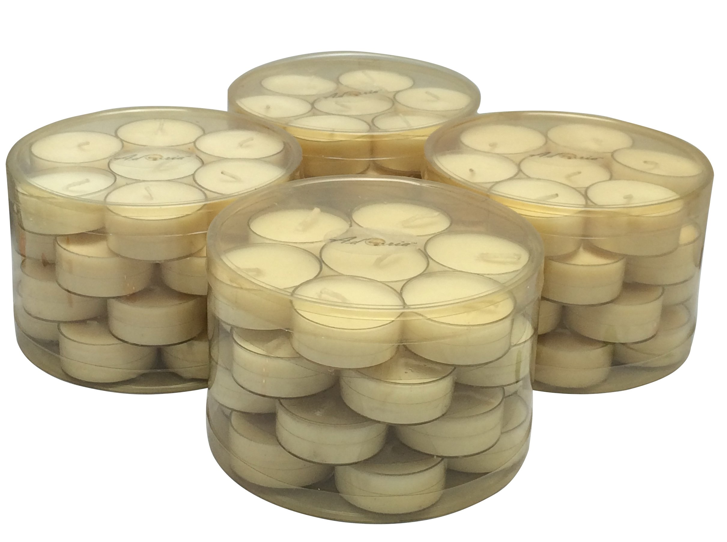Adoria Tea Light Candles Gift Set - 100% Natural Soy Wax Candle Unscent in Clear Cup 112 Packs Bulk for Home Decor,Outdoor,Wedding,Parties and Gift-Over 4 Burning Hours by Adoria