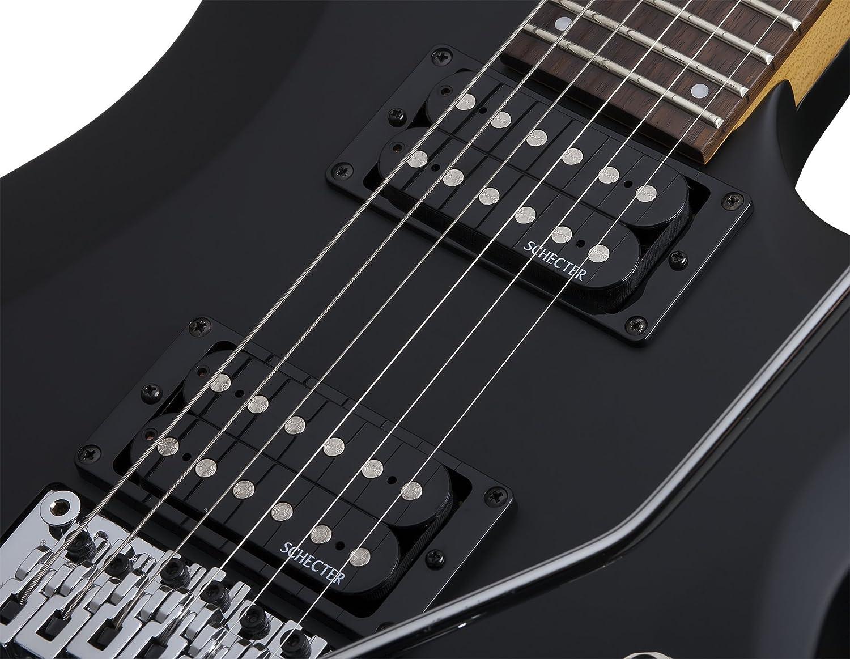 Amazon.com: Schecter C-6 FR DELUXE Satin Black Solid-Body Electric Guitar, Satin Black: Musical Instruments