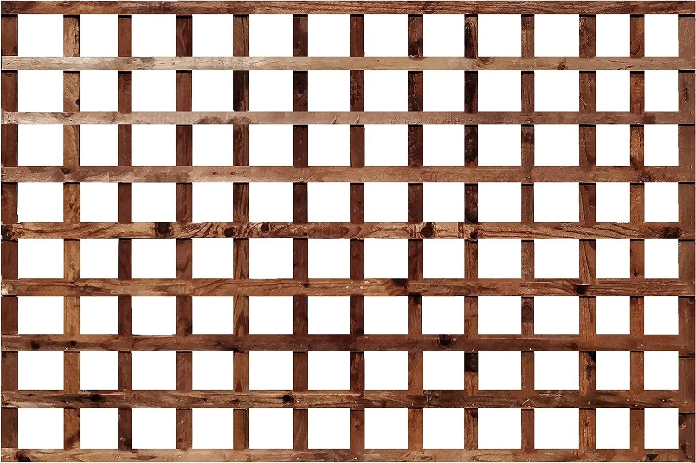 Celosía de enrejado cuadrado de madera tratada en autoclave para ...