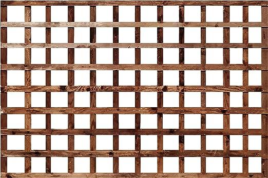 Celosía de enrejado cuadrado de madera tratada en autoclave para jardín de 6 metros (otros tamaños disponibles): Amazon.es: Jardín