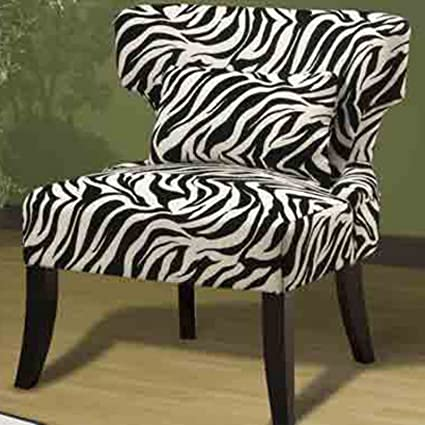 Emerald Designer Living Room Chair With Zebra Print By Wenger Furniture