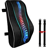 Lumbar Support Pillow for Office Chair, Memory Foam Back Cushion Orthopedic Backrest, Car Seat Lumbar Pillows for Back…