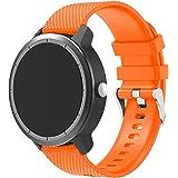 Senter para Garmin Vivoactive 3 Correa,Quick Release Soft Silicone Replacement Correa Compatible para 20mm Garmin Vivoactive