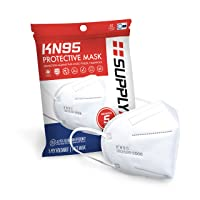SuppyAID RRS-KN95-5PK KN95 Protective Mask, Protection Against PM2.5 Dust. Pollen and Haze-Proof, 5 Pack