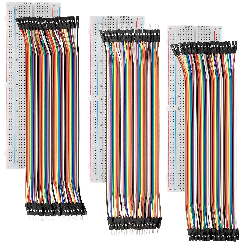 Azdelivery Breadboard Kit 3x Jumper Wire M2m F2m F2f 3er Set Mb102 Breadbord Inklusive E Book Gewerbe Industrie Wissenschaft
