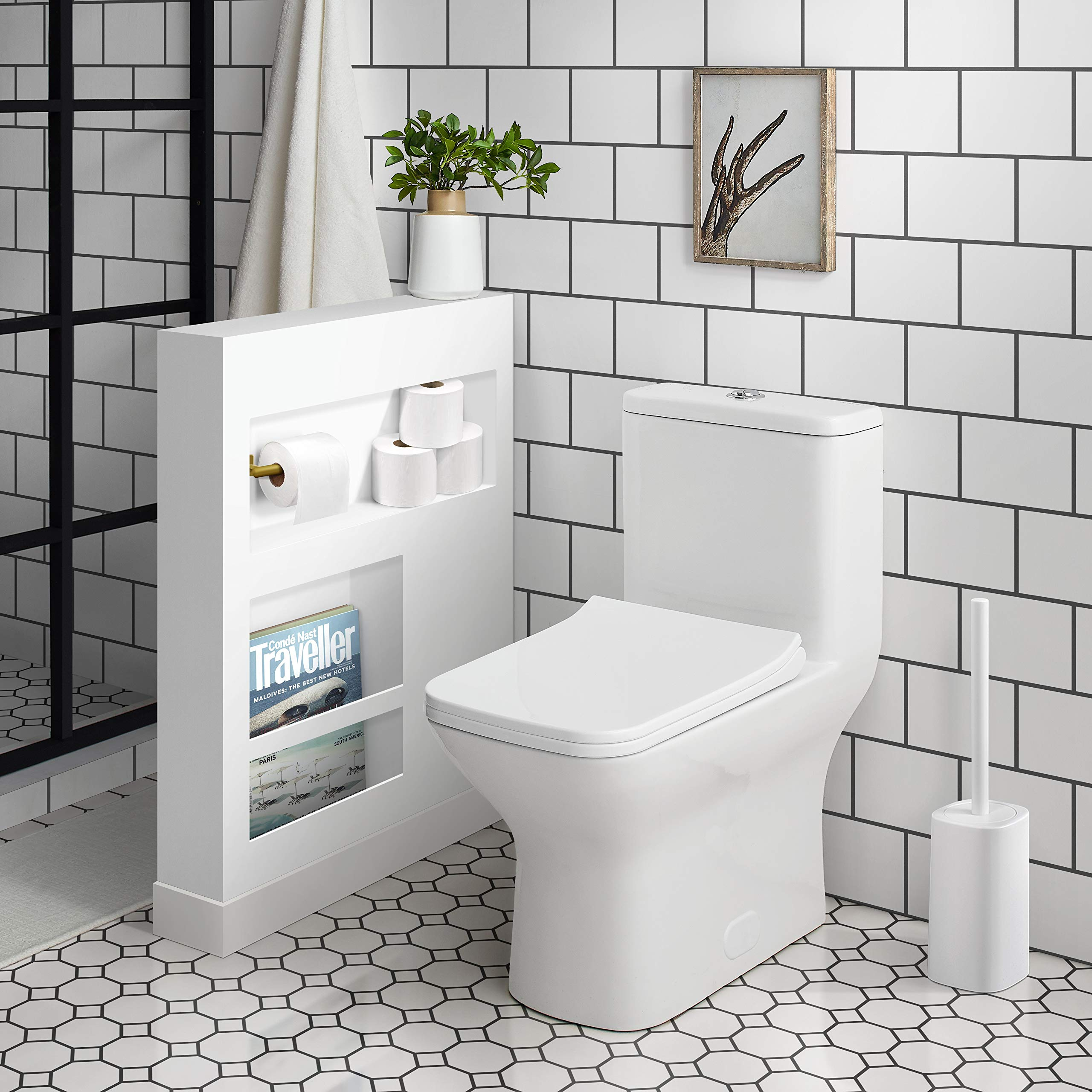 Swiss Madison SM-1T256 Carré One Piece Toilet, Glossy White by Swiss Madison