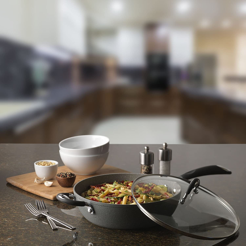 Gray 07348 2-Quart Bialetti Granito Nonstick Sauce Pan