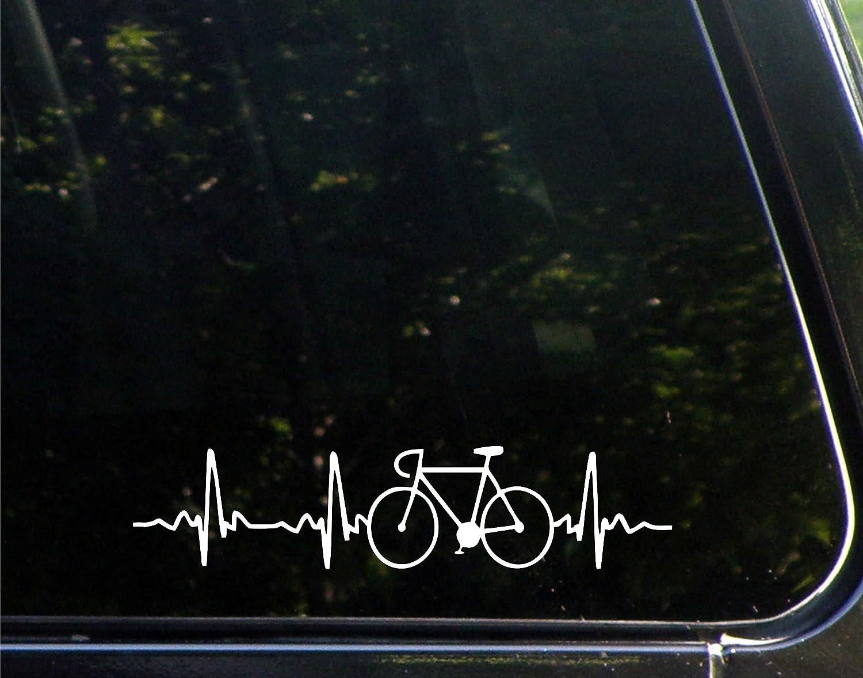 Road Bike heartbeat die-cut car window sticker buy 2 get 1 free!