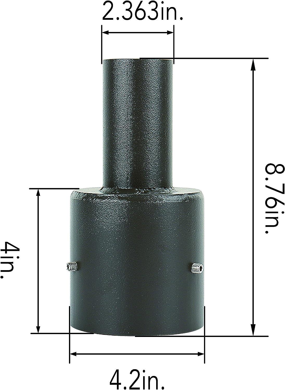 Triple 90 Degree Horizontal Tenon Adaptor Black Bracket Steel Lighting Mount.