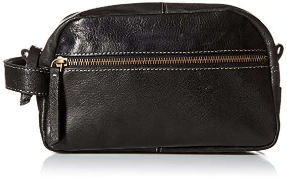 7d7b2b2b73 Amazon.com: Timberland Men's Rugged Wash Leather Travel Kit, Black ...