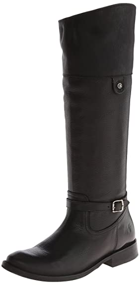 Frye Women's Shirley Rivet Tall Black Soft Vintage Leather Boot 5.5 B ...