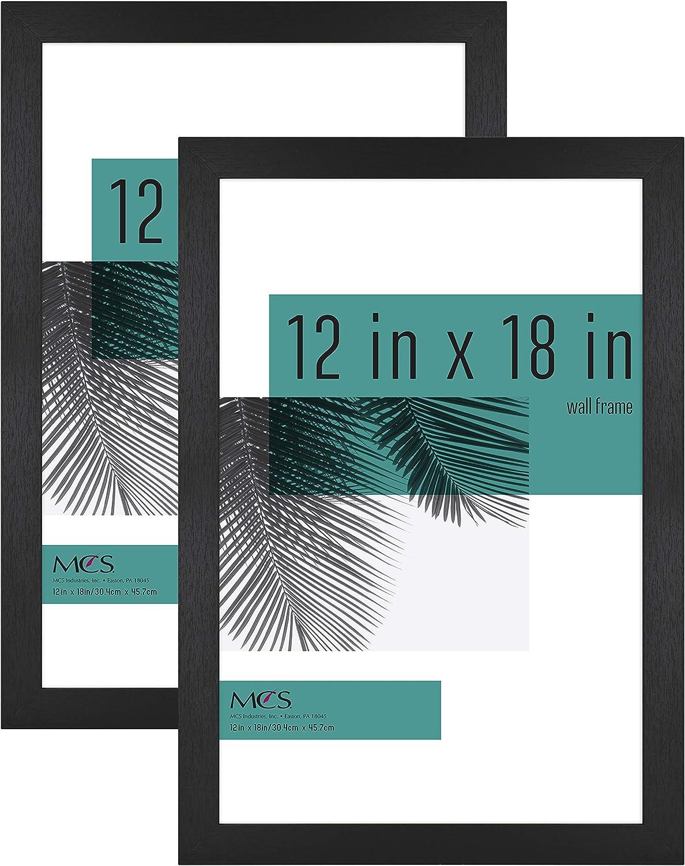 MCS Industries 63789 12x18 Inch 2-Pack, Black Woodgrain Studio Gallery Frame, 12x18, 2 Count