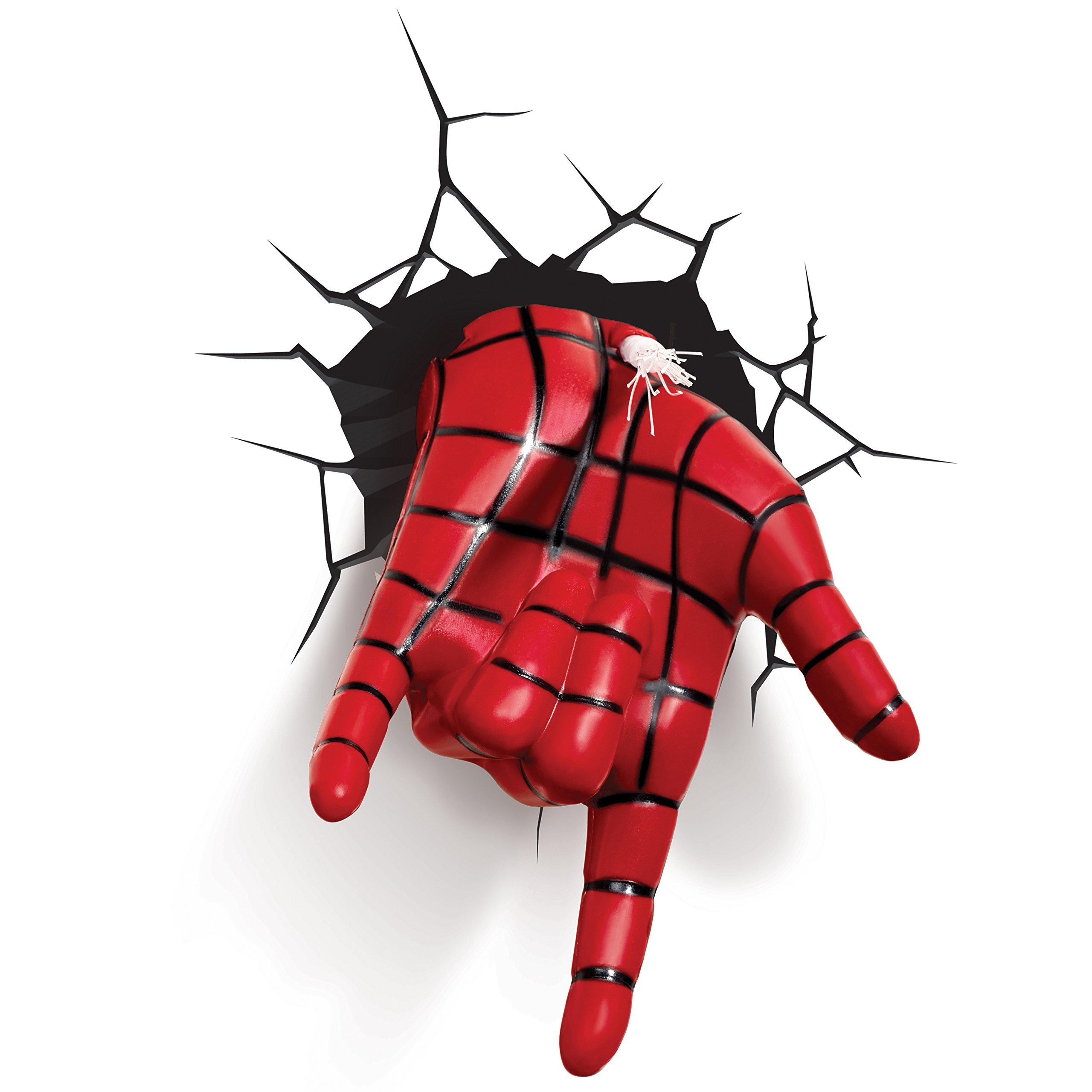 3D light FX Marvel Spiderman Hand 3D Deco LED Wall Light by 3D light FX