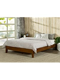 zinus 12 inch deluxe wood platform bed no boxspring needed wood slat support