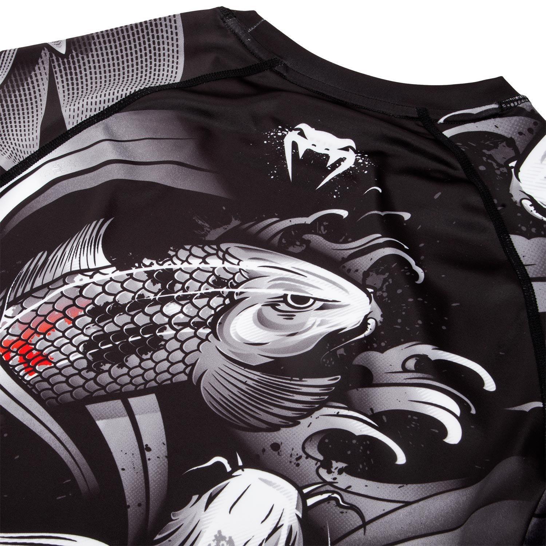 Venum Mens Koi 2.0 Short Sleeve Rash Guard Black//White VENUM-03536-108
