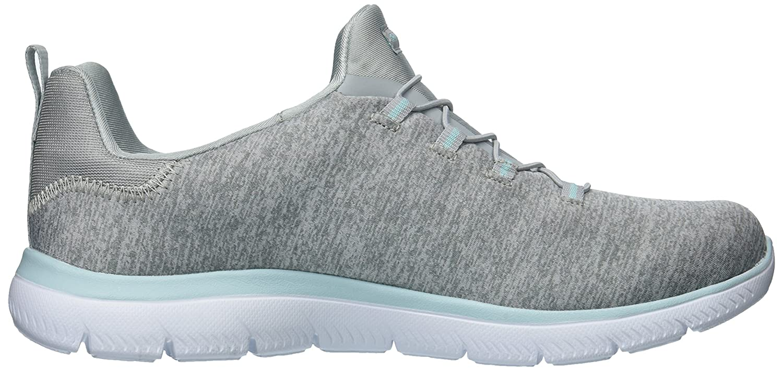 Skechers Women's Summits Sneaker B0778XY3YL 7 B(M) US|Light Grey Aqua