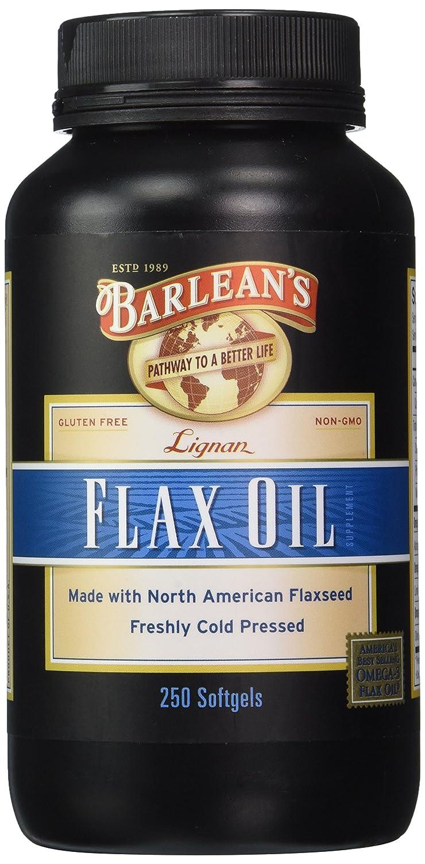Barlean's Organic Oils Lignan Flax Oil, 250 Count