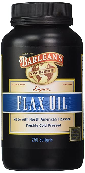 Lignan Flax Oil, 1000 mg ea, 250 Count by Barlean's Organic Oils