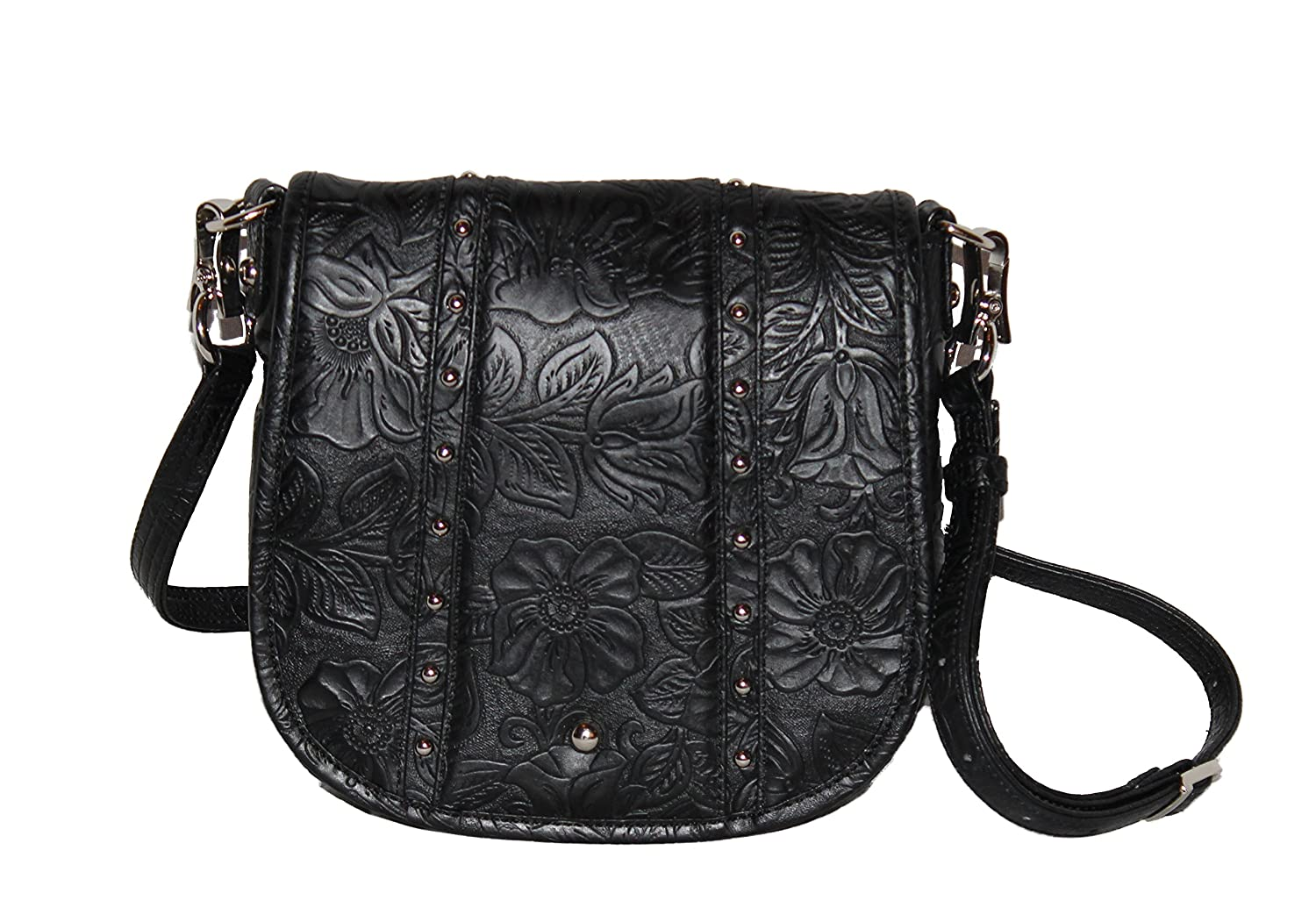 Gun Tote'n Mamas - Concealed Carry Purse - Leather - Studded Flap Bag