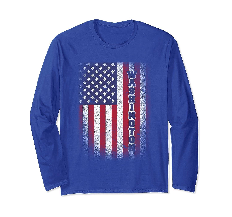 Washington T-shirt American Flag Usa Patriot United States-anz