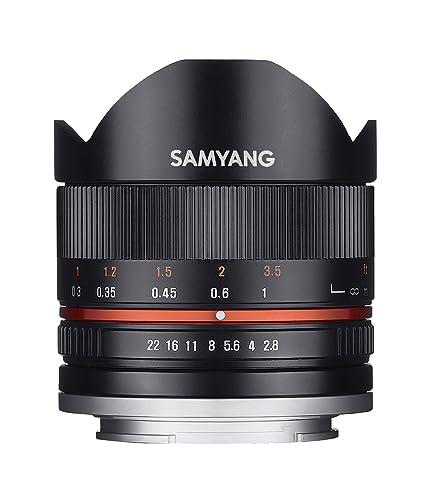 Samyang 8/2,8 Objektiv Fisheye II APS-C Fuji X manueller Fokus Fotoobjektiv, Superweitwinkelobjektiv schwarz