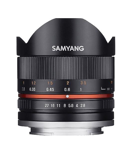 15 opinioni per Samyang Fish-Eye II Obiettivo 2.8/8 mm, Nero