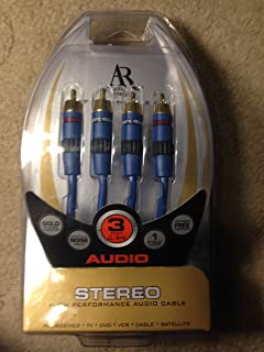 Acoustic Research PR102 Pro Series Video Cable Gold RCA to RCA 12 feet