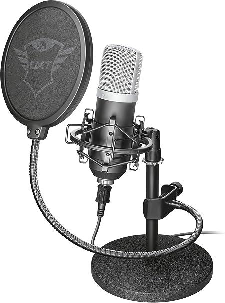 Trust Gaming Gxt 252 Emita Studio Usb Mikrofon Für Pc Computer Zubehör