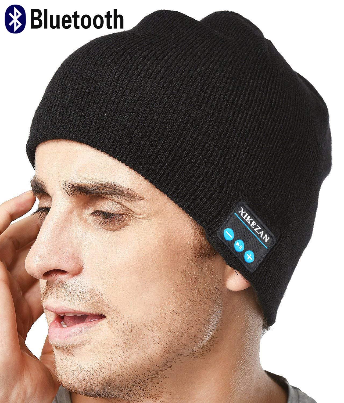XIKEZAN senza fili Bluetooth Beanie Cappello di uomini e donne a maglia di inverno berretto con cuffie stereo integrati per uomo donna regali di Natale, Black VWUKLMZXX02BL